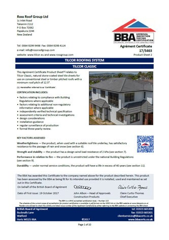 BBA Zertifikat