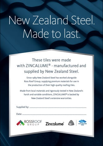 NZ Steel Zertifikat